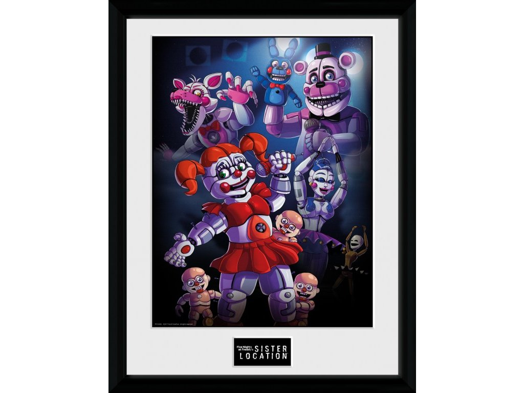 2597 five nights at freddys plakat w ramce sister location