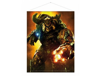 1223 doom wallscroll cyberdemon