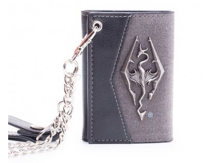 1772 skyrim portfel chain with metal dragon badge