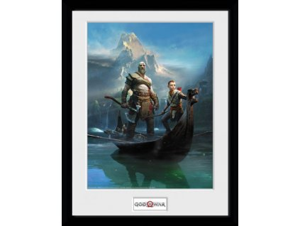 2576 god of war plakat w ramce key art