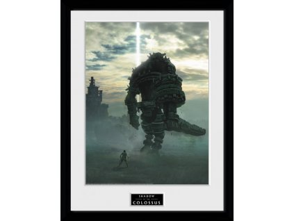 2588 shadow of the colossus plakat w ramce key art