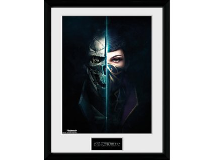 2663 dishonored 2 plakat w ramce faces