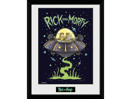 2675 rick and morty plakat w ramce ship