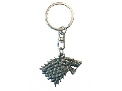 game of thrones keychain 3d stark x2