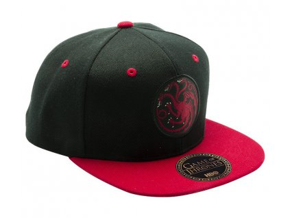 game of thrones snapback cap black red targaryen