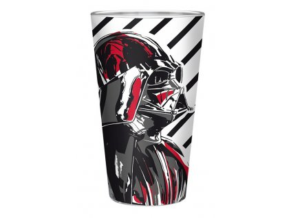 star wars large glass 400ml vader box x2 (1)
