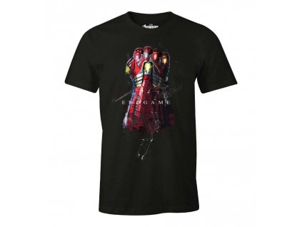 the avengers marvel t shirt iron gauntlet
