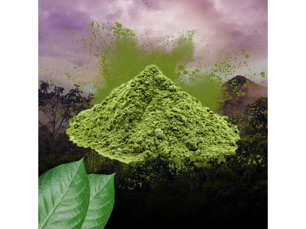 zeleny kratom prasek