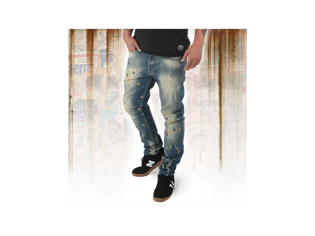39739 6923 vyr 5601 vyrp11 7089Yakuza jeansy panske 893 STRAIGHT JEANS JEB 12078 bronzee distressed