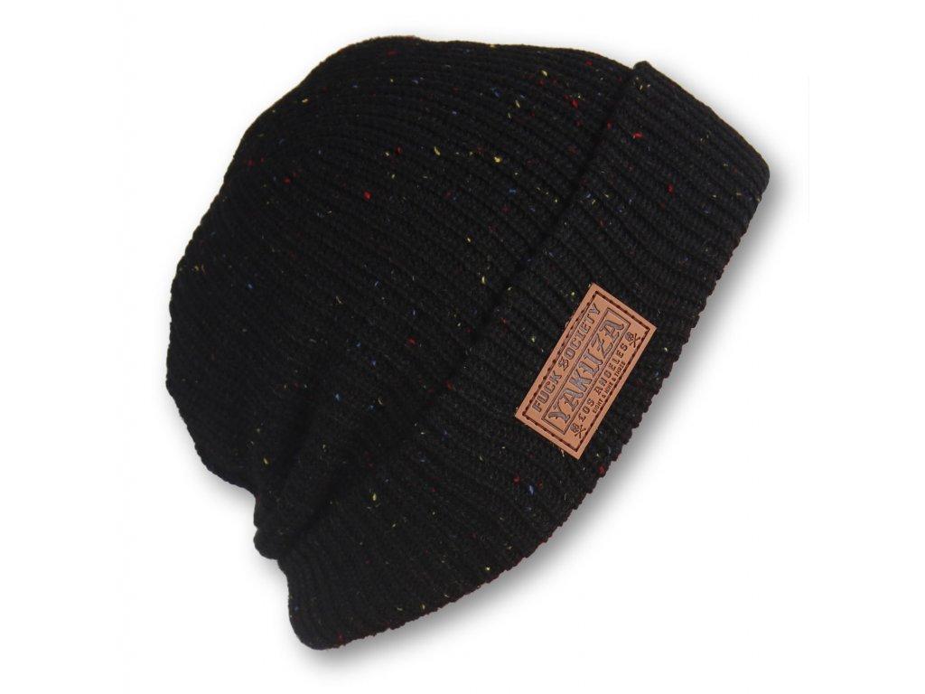 6778 yakuza ciapka tab knit beanie yb 15302 black