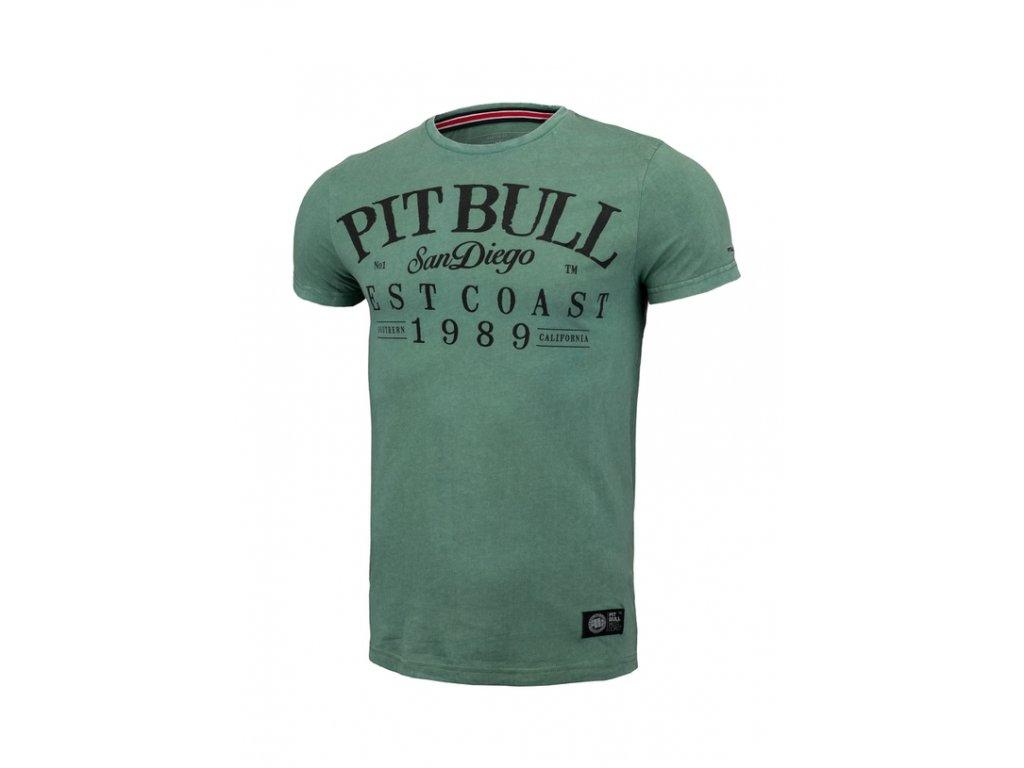 pit bull koszulka denim washed oldschool zielony 28