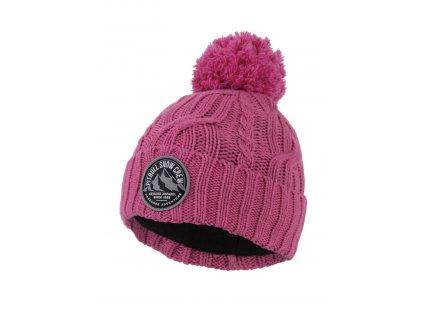 PitBull West Coast - dámská zimní čepice Snow Crew - pink