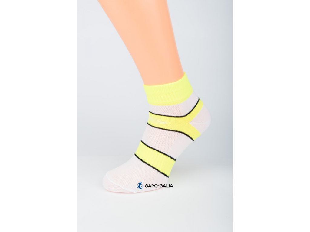 Kotníkové ponožky BÍLÝ PRUH 5ks