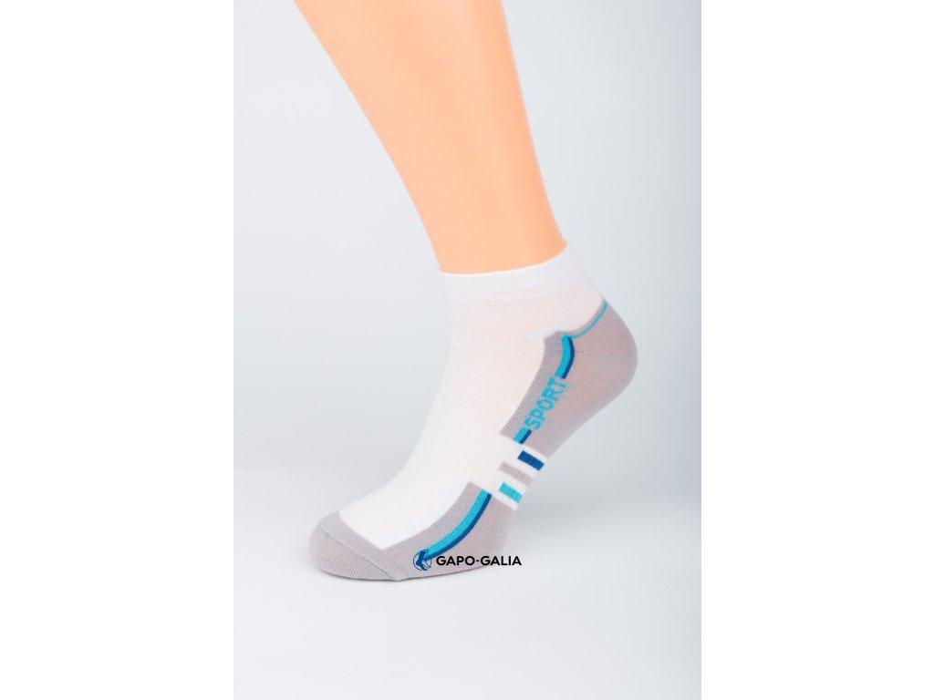 Kotníkové ponožky SPORT BÍLÁ 5ks