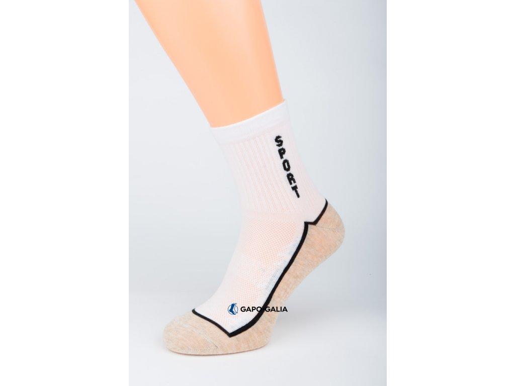 Sportovní ponožky SPORT BÍLÁ 5ks
