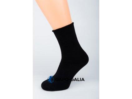 Zimní ponožky ZDRAVOTNÍ ANTIBAKTERIA HLADKÁ 5ks