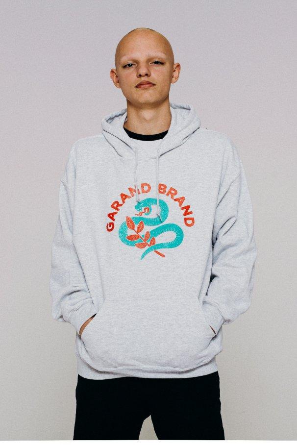 hoodie snake grey1
