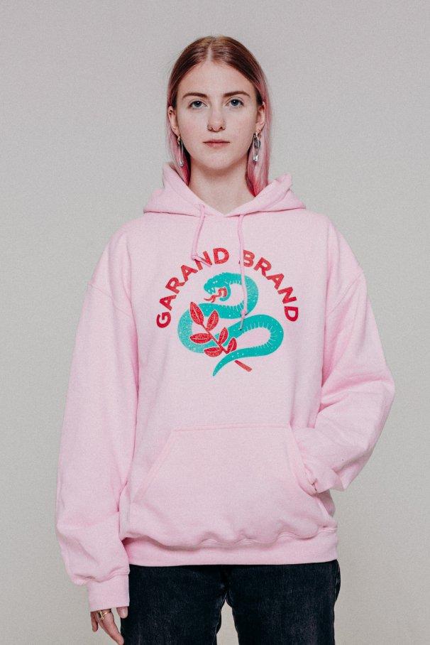hoodie snake pink1