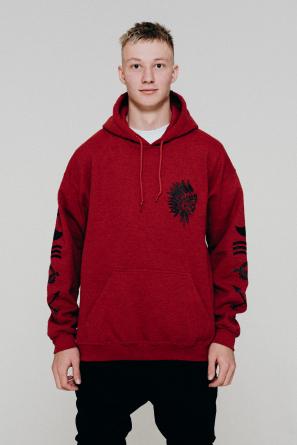 hoodie indian red1