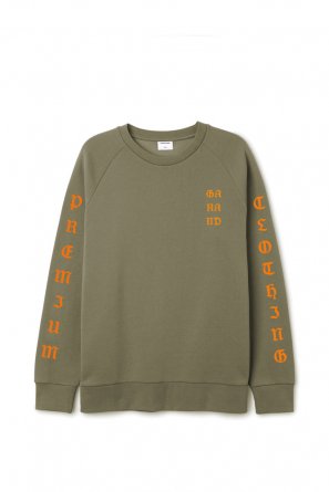 SS 17 - MIKINA GOTHIC TYPE - ARMY GREEN