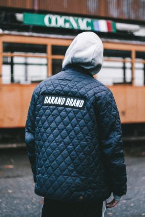 jacket navy garand brand back
