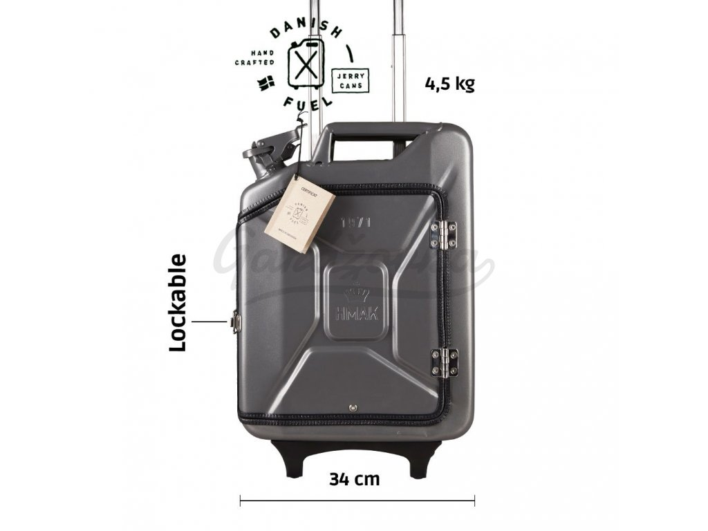 Missile grey suitcase front scaled
