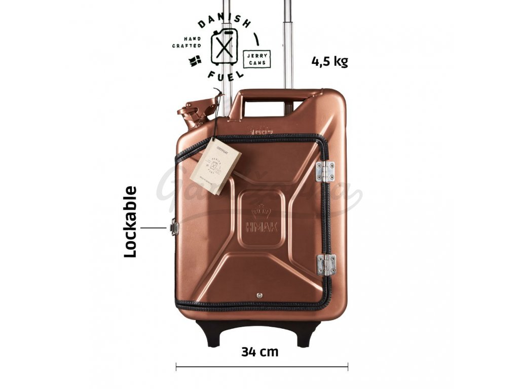 Copper suitcase front