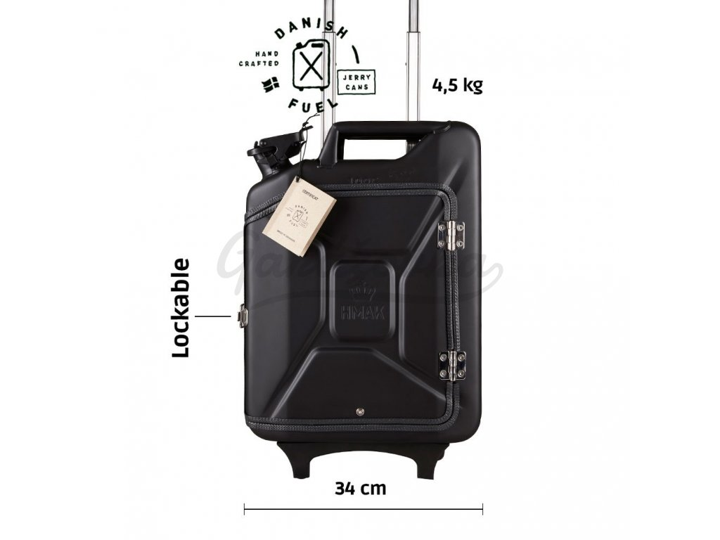 Nano black suitcase front