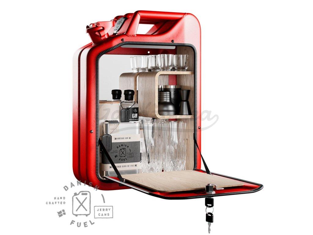 Bar Cabinet Gas Red Oak 1