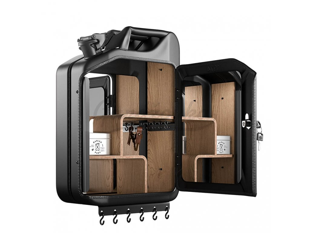 Danish Fuel Key cabinet open oak 2 1