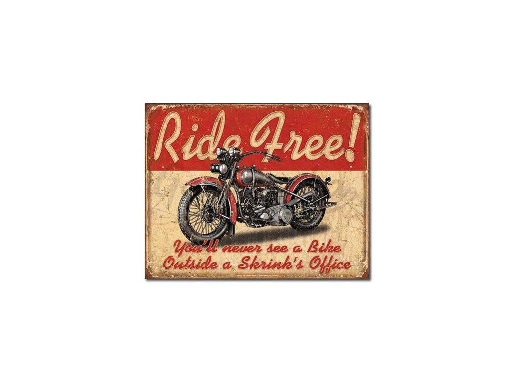 plechova cedule ride free