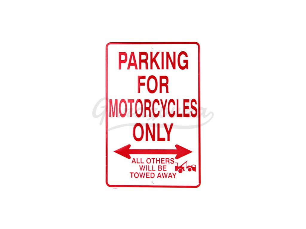 motorcycles parking only