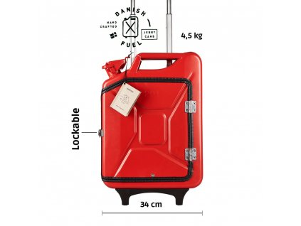 Gas red suitcase front