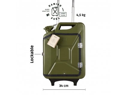 Army green suitcase front 1