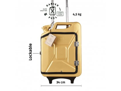 Gold suitcase front