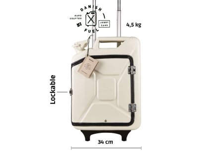 Moscow white suitcase front