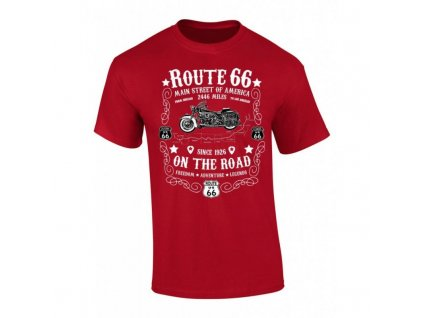 tricko route 66 on the road dark red