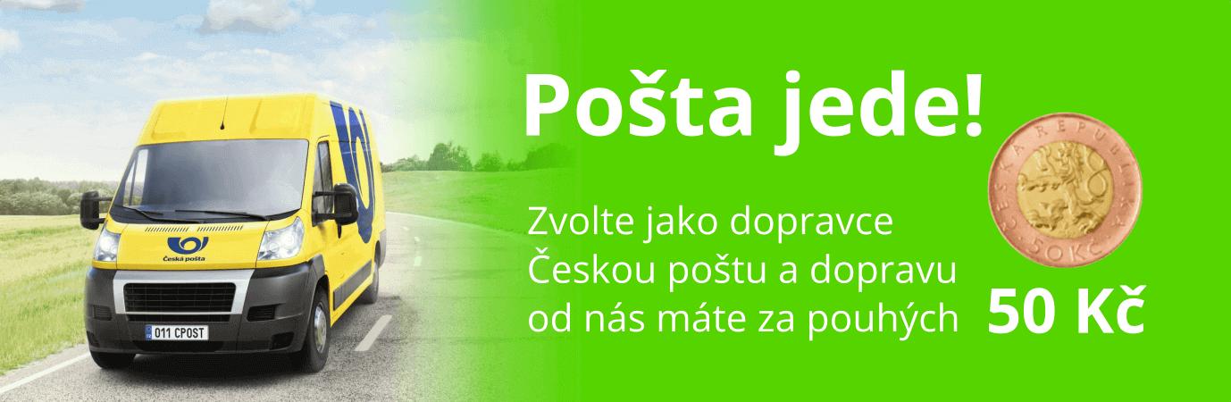 Doprava poštou za 50 korun