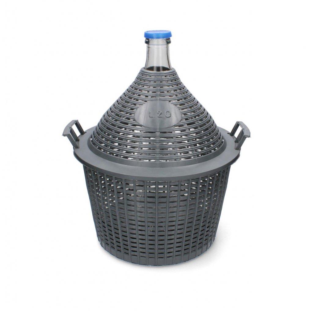 demizon 20l skleneny plastovy kos 2