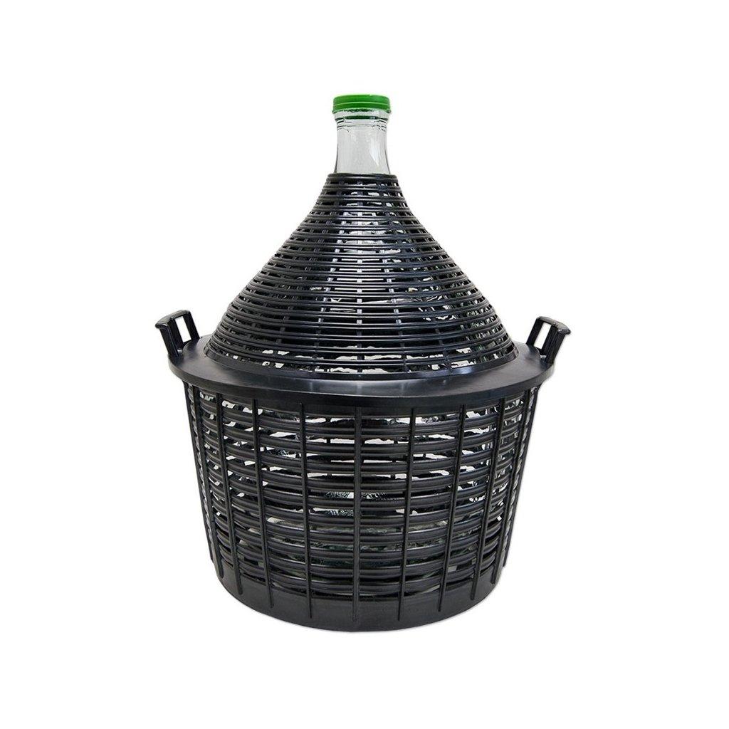 demizon na vino 10l v plastovem kosi