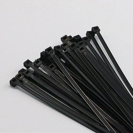 Vázací pásky stahovací černé