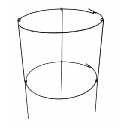 Kruhová opora pro rostliny se dvěma obručemi  výška 60 až 90 cm