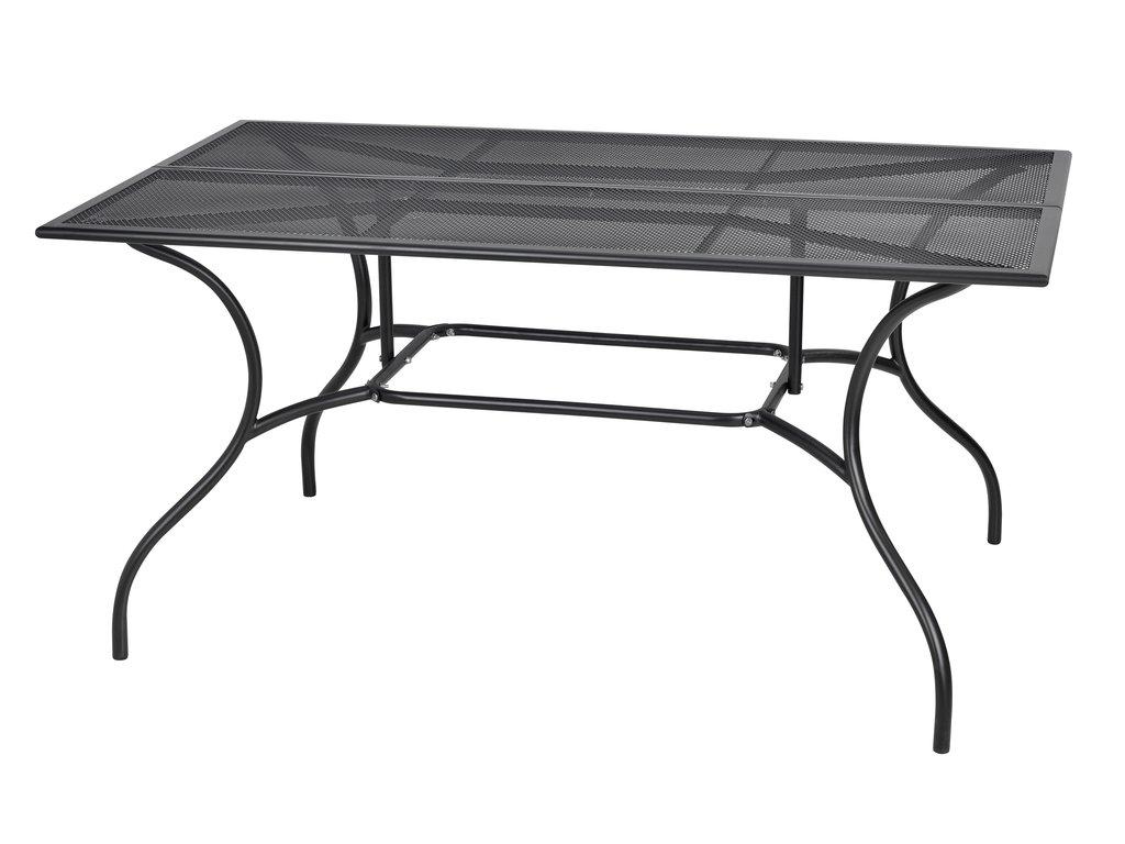 fa8a62602bb6 Kovový zahradní stůl s drátěnou vrchní deskou obdélníkového tvaru.