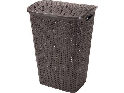 koš na prádlo - hnědý MY STYLE 55L