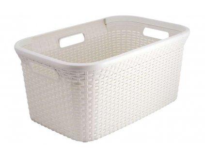 koš na čisté prádlo - krémový RATTAN STYLE 45L
