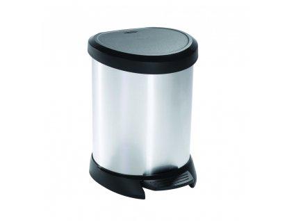 odpadkový koš - stříbrný DECOBIN 5L