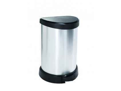 odpadkový koš - stříbrný DECOBIN 20L