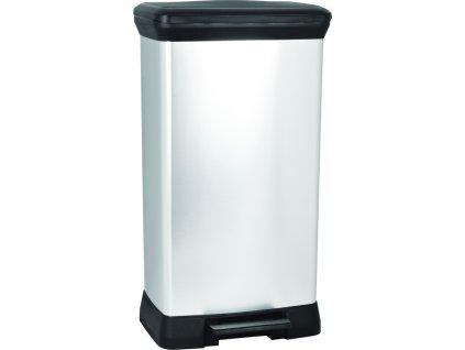 odpadkový koš - stříbrný DECOBIN 50L