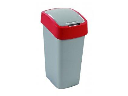 odpadkový koš - červený FLIPBIN 50L
