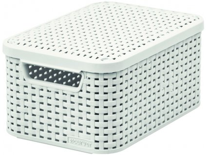 STYLE box s víkem - S - krémový